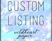 Custom Listing for nanz0110