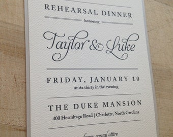 Rehearsal Dinner Invitation // Simple and Elegant Invite // Purchase this Deposit to Get Started