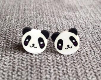 Panda Stud Earrings, Kawaii Panda Earrings, Panda Studs, Panda Earrings, Panda gifts, Kawaii Jewellery, Panda Accessories, Panda Jewellery