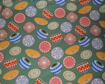 Decorative Fabric, Southwestern Fabric, Pottery/Baskets Quilt Fabric,Green/Red/Yellow/Orange/Blue HomeDecor (1) Yard 36'' Length, 45'' Width