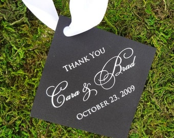 Personalized Printed Favor Tags - Set of 75, Custom Gift Tags, Personalized Favor Tags , Wedding Favor Tags, Gold Foil Printed Tags
