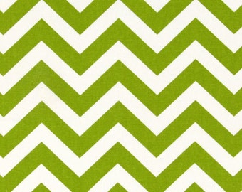 1/2 or 1 yard fabric -Home Decor Chevron Fabric -Premier Prints Zig Zag Chartreuse Lime Green White