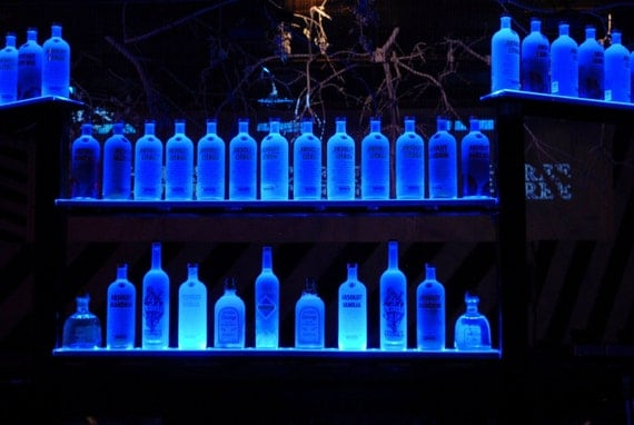 37 Wall Mount Led Lighted Bottle Shelf on led bottle shelf