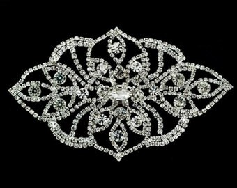 "Gorchess Crystal Applique Height 5"" Width 3"" 1 pcs"