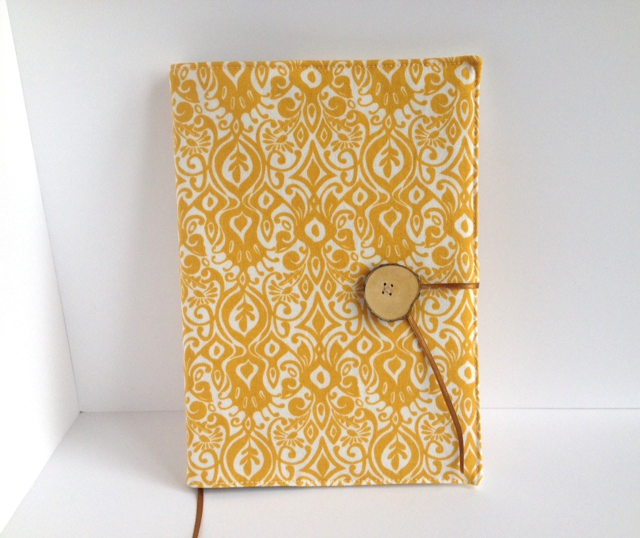 How To Make A Reusable Book Cover ~ Fabric covered notebook reusable book cover made by