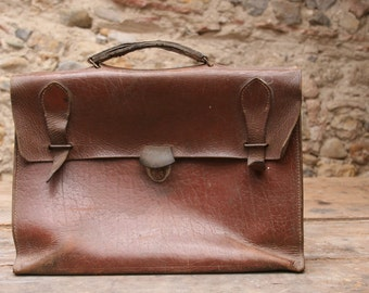 Genuine French Leather School Satchel