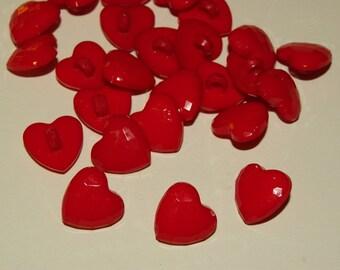 10 buttons, heart (467)
