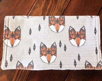 Burp Cloth ~ Geometric//Tribal//Triangle//Fox//Nature//Woodland//Natural