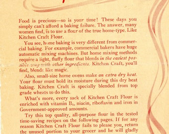 1944 Kitchen Craft Flour Recipe Booklet