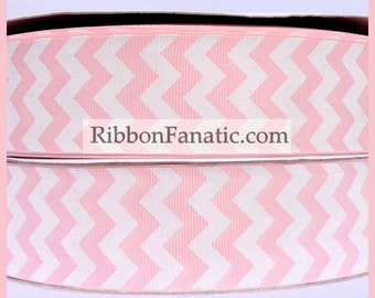 "5 yds 1.5"" Light Pink with White Grosgrain Ribbon"