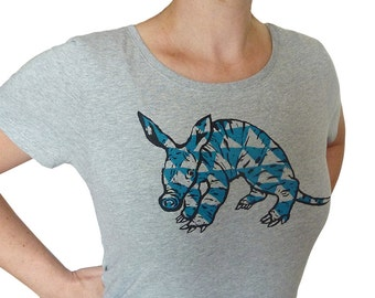 Aardvark, heather grey, fairtrade organic shirt for women, 100% organic cotton