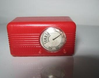 Renwal Dolls House Plastic Radio 1950's