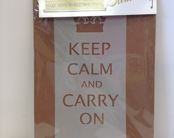 Keep Calm Stencil