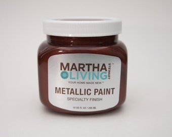 Martha Stewart Living Metallic Paint Copper Red Specialty Finish