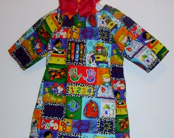 Peasant Dress  Ready to Ship Size 2t 3t 4t 5t 6 8 with hair bow.