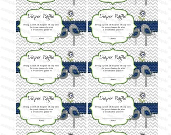 Boy Baby Shower Raffle Ticket Baby Shower Diaper Raffle Card Diapers Raffles Baby Shower Games Printable Digital Files (1422) download