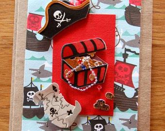 Handmade Cards, Handmade Birthday Cards, Pirate Card