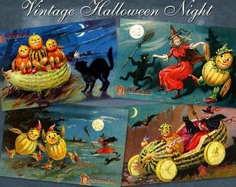 Vintage Halloween Night - Digital Download