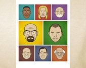 Faces of Breaking Bad — Art Print