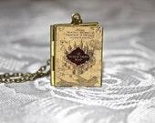 Harry Potter Marauder's Map Book Locket