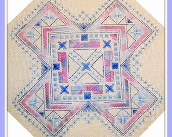 Geometric - embroidery pattern