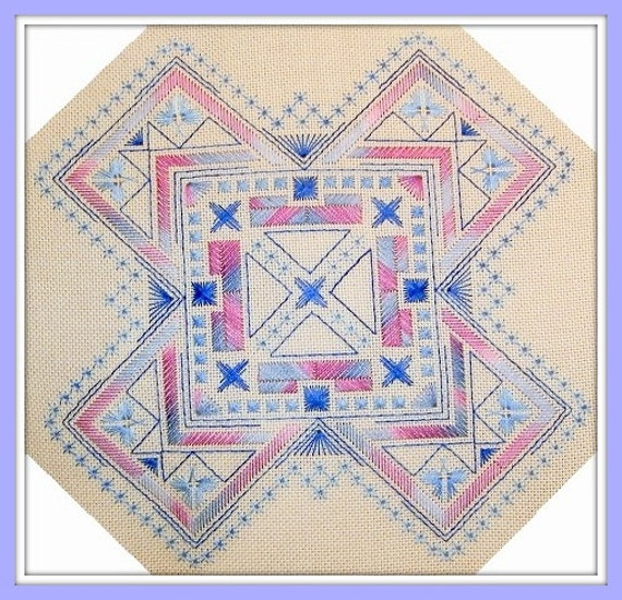Items similar to geometric embroidery pattern on etsy