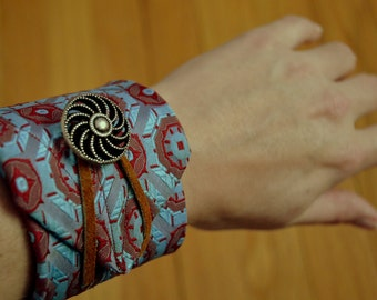 upcycled adjustable tie bracelet