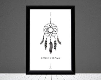 Displays 'sweet dreams'