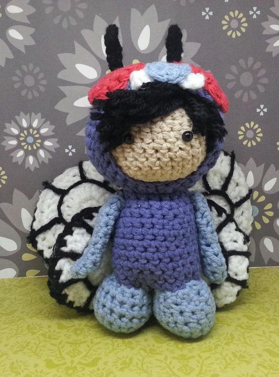 Amigurumi custom doll in Butterfree costume