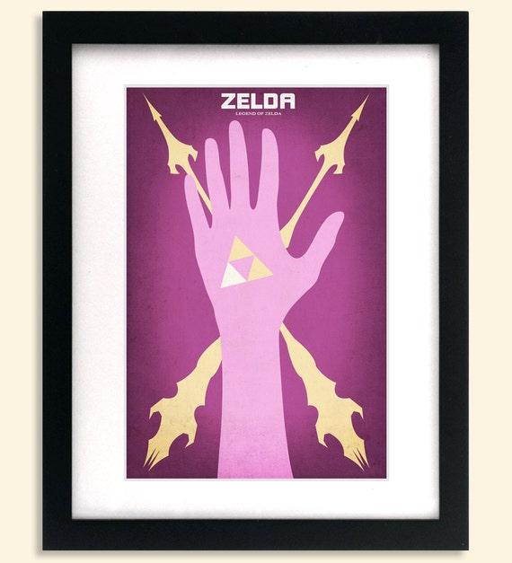 Minimalist Classroom Zelda ~ Legend of zelda inspired minimalist poster