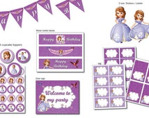 Instand DL Sofia the First PARTY Package Printable Birthday Package