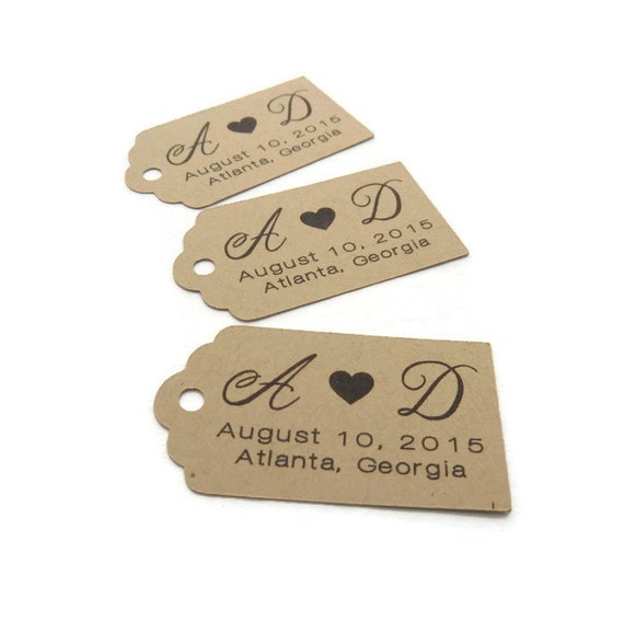 Personalized Wedding Gift Tag Stickers : Personalized Tag - Custom Wedding Favor Tags - Wedding Tag - 50 Count ...