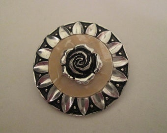 Scarf Clip WESTERN GERMANY. Rose Within A Sunflower.