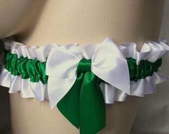 White , Emerald , Apple , Green , Satin Garter , Garter , Wedding , Bride , To Keep , Toss , Throw , Bachelorette , Hen , nitelifefashion