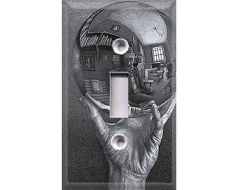 Historic Art - Hand With Reflecting Sphere Light Switch Cover
