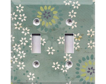 Boardwalk Collection - Flowers Double Light Switch Cover