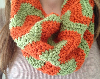 Crochet Chevron Cowl