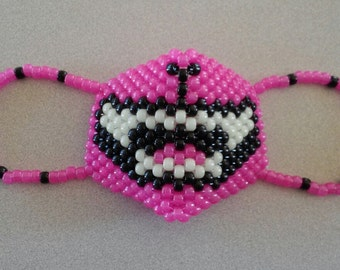 Glow kitty cat kandi rave mask
