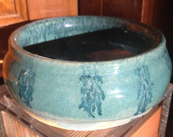Decorative Ceramic Bowl (Teal)