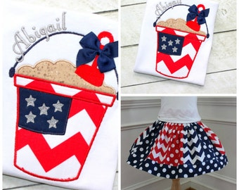 4th of july chevron outfit skirt set navy red white blue outfit july 4th clothing girl toddler infant baby patriotic outfit