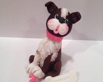 Edible Fondant Dog Topper Cake topper
