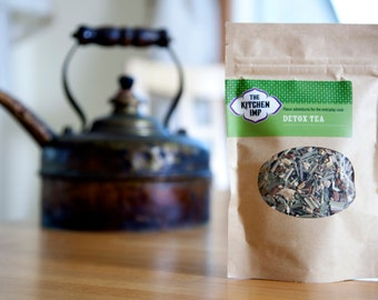 Organic DETOX TEA - Decaffeinated herbal tea - 2.5 oz or more