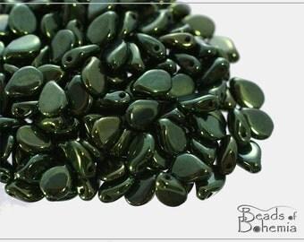 60 pcs Metallic Fern Czech Preciosa PIP Beads 5x7 mm (8934)