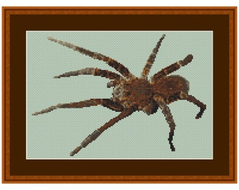 Creepy Cute, Cross Stitch Kit Spider Tarantula