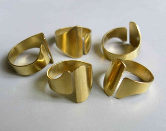 50pcs Raw Brass Ring , Ring Findings 19mm - F162