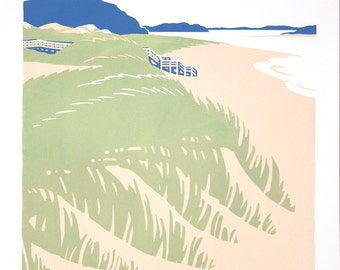 Beaches: Crane Beach, Limited Edition Screen Print