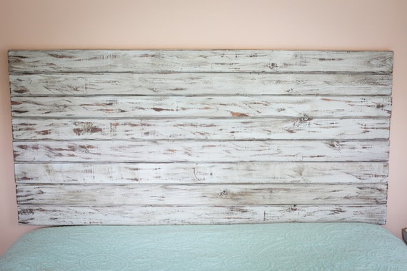 Items similar to Rustic White FULL Size Headboard