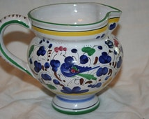 Hand Painted Signed ARS Deruta Italian Pottery Pitcher