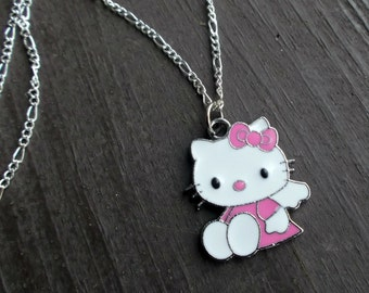 Cute angel Kitty necklace