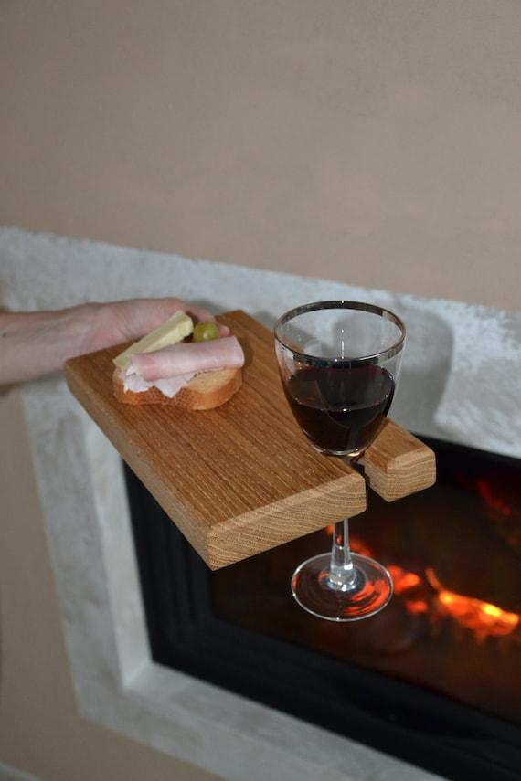 Articoli simili a tagliere aperitivo in legno porta for Bicchieri in legno